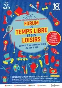FORUM DU TEMPS LIBRE ET DES LOISIRS - Paris 18e @ Gymnase Micheline Ostermeyer