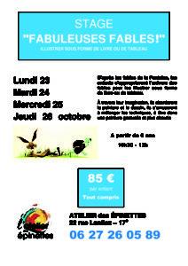 """STAGE """"FABULEUSES FABLES !"""" @ Atelier des épinettes"""