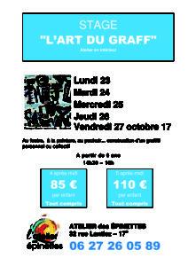 """STAGE """"L'ART DU GRAFF"""" @ Atelier des épinettes"""