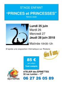 """Stage enfant peinture dessin """"PRINCES ET PRINCESSES"""""""