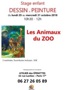 Stage enfant DESSIN & PEINTURE - Les Animaux du ZOO @ Atelier des épinettes (ADE)