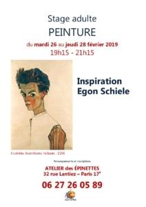 Stage adulte Inspiration Egon Schiele @ Atelier des épinettes