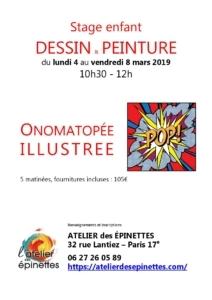 Stage enfant Onomatopée illustrée, dessin, peinture @ Atelier des épinettes