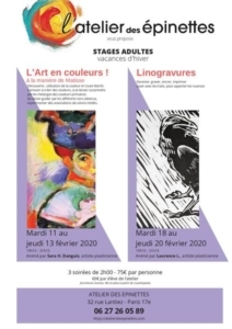 Stage adultes L'Art en Couleurs