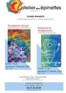 Stages enfants Sculpture-récup